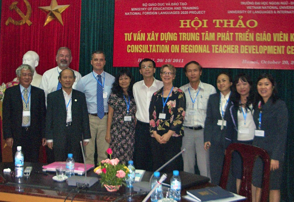 Diana facilitated a national symposium on regional foreign language centers with Dr. Nguyen Ngoc Hung at ULIS in 2011