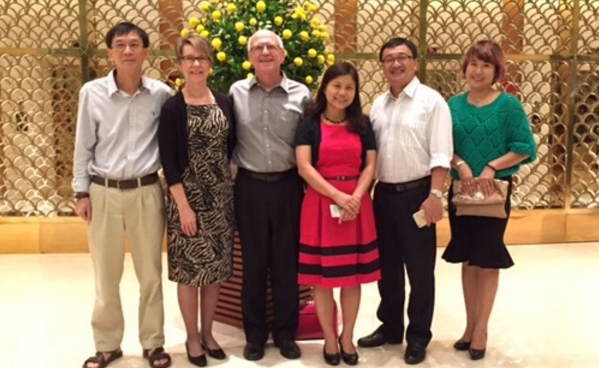 Diana and her husband Jerry with Dr. Nguyen Hoa, Dr. Nguyen Thi Ngoc Quynh, Dr. Do Tuan Minh, and Ms. Nguyen Thi Mai Huu